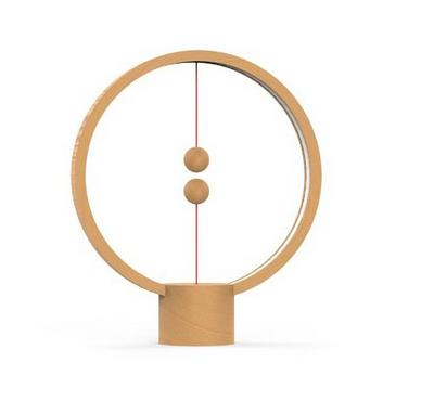 Allocacoc, Heng Balance Lamp Round Usb, Light Wood