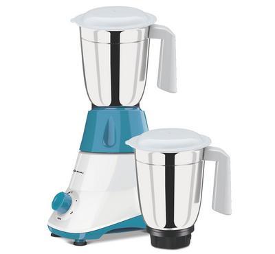 Bajaj Mixer Grinder 550 Watts, 2 JAR, White&Blue.