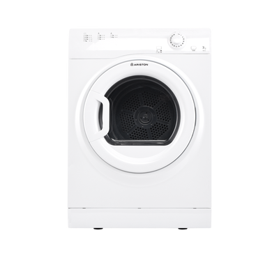 Ariston Tumble Dryer, 7kg, Air Vented, Steel Tub, 3 Special Drying Programs, White