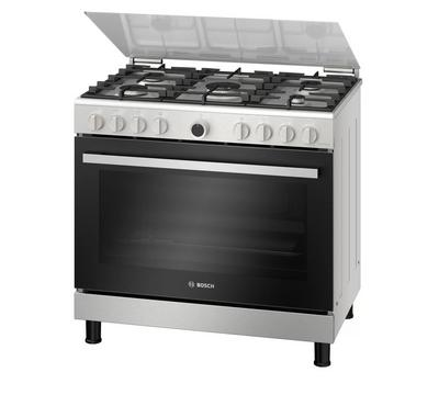 Bosch  90x60cm Gas Cooking Range With Convection Full Safety Stainless Steel