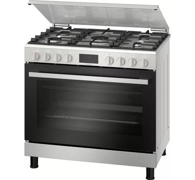 Bosch 90x60cm Gas Cooking Range With Convection Digital Full Safety Stainless Steel