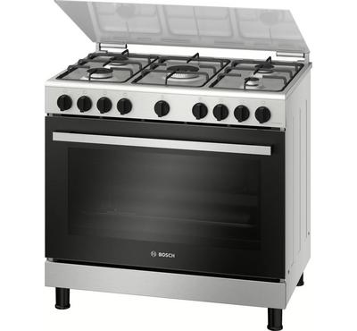 Bosch Serie 2 90x60cm Gas Cooking Range With Rack Grill Full Safety Stainless Steel