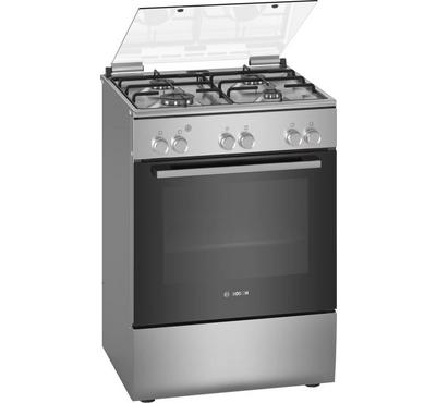Bosch Serie 2 60x60cm Gas Cooking Range, Grill Full Safety Stainless Steel