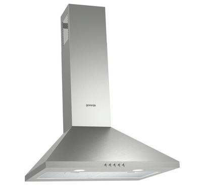 Gorenje 60cm Wall Mounted Cooker Hood, Stainless steel