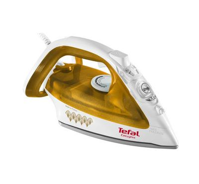 Tefal, Steam Iron, Easygliss Gold Edition, 2400W, Anti-drip,Gold/White