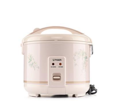 تايغر طباخة أرز كهربائية، 1 لتر، زهري / أبيض