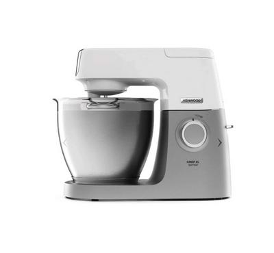 Kenwood 1400W Kitchen Machine, Chef XL Sense, 3 Tools, White&Silver.