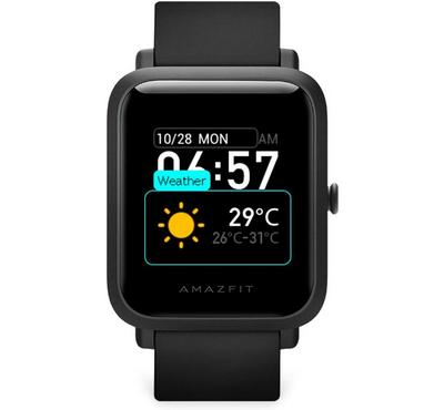 Amazfit BIP S A1821 42mm Basic Fitness Smartwatch, Carbon Black