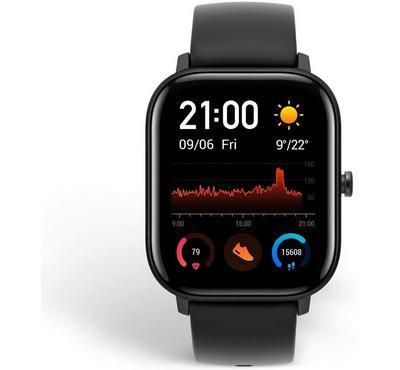 Amazfit GTS A1914 43mm Fashion Fitness Smartwatch, Obsidian Black