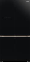 هيتاشي ثلاجة أربع ابواب، 720 لتر، إنفيرتر، زجاجي أسود