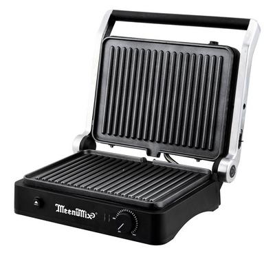 Meenumix 4s Electric Contact Toaster Grill Removable Plates 2000W Black/Silver