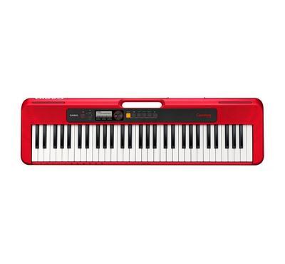 كاسيو، بيانو 61 مفتاح، 48  نوتة متعددة الأصوات، 400 نغمة، 60 أغنية، أحمر