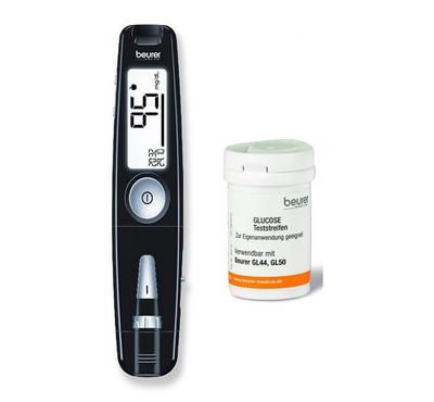 Beurer 3in1 Gluco Monitor + 50 Strips Combo