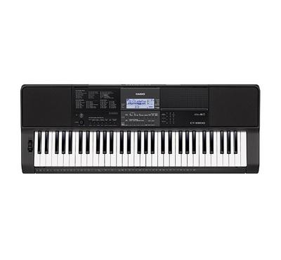 Casio, 61 keys Piano Keyboard with Touch Response, 48 Polyphony, built-in 600 tones, Black