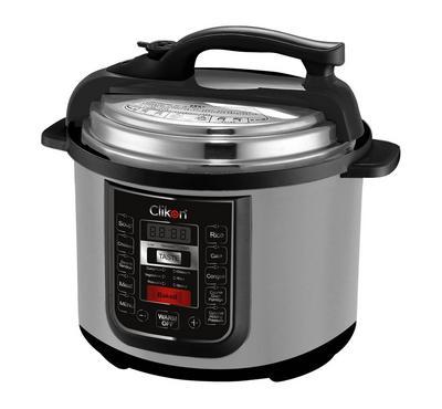 Clikon 6.0L Multi-Function Electric Pressure Cooker Steel Body 900W Black/Silver