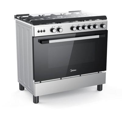 Midea 90x60cm Gas Cooking Range With Convection Fan Full Safety Stainless Steel