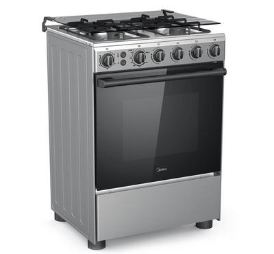 Midea 60x60cm Gas Cooking Range With Turnspit Grill Full Safety Stainless