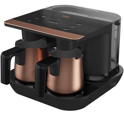 بيكو صانعة قهوة تركية، 6 اكواب، 1.5 لتر، 1200 واط، أسود/ نحاسي