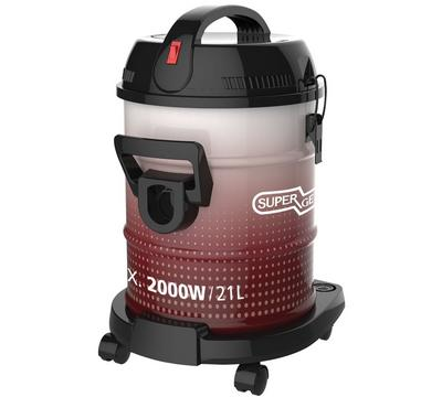 Super General 2000W Vacuum Cleaner, Large Dust Capacity, Pink/Black