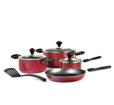 Prestige 8 Pcs Value Pack Cookware Set, Red