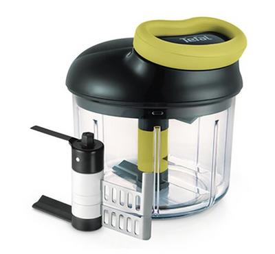 Tefal, Manual Chopper, 900ML, Including All Attachmnets, Black/Green
