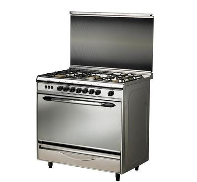 Prolux 80x55 5 Burner Gas Cooker, Stainless Steel.