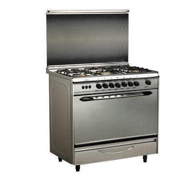 Prolux 90x60 5 Burners Gas Cooker, Stainless Steel.