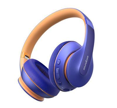 أنكر لايف كيو 10، سماعة رأس فوق الاذن، أزرق