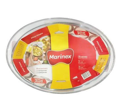 Marinex, 2 Pcs 4L+3.2L Oval Roasters Pack, White