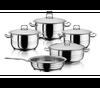 Hascevher, 9 Pcs Pot Set, Silver