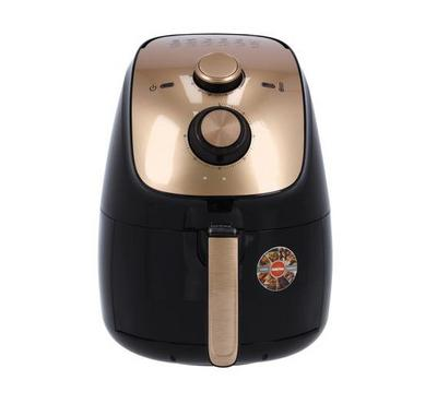 Geepas Air Fryer, 3.5 Ltrs Capacity, Non-Stick Coating, Black&Gold
