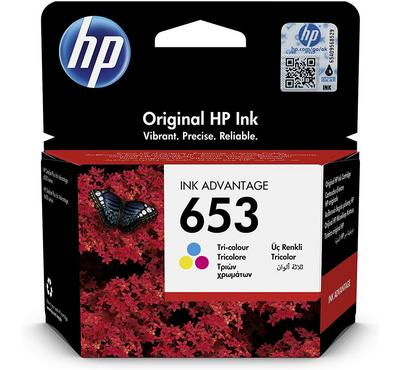 HP, 653 Tri- Color Original Ink Advantage Cartridge