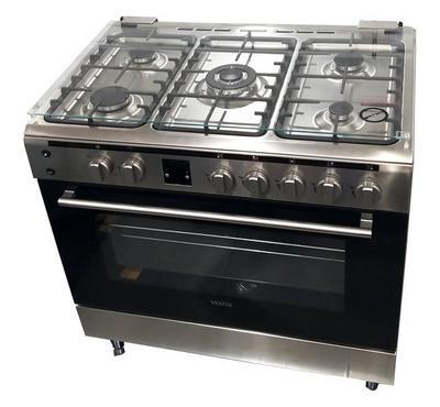 Vestel Gas Cooker,90x60 Cm, 5 Burners, Inox
