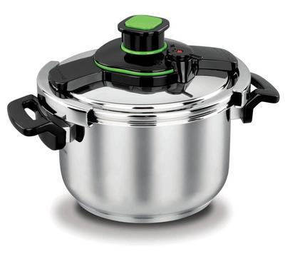 Korkmaz TESSA, 5.0L Pressure Cooker Stainless Body, Black/Stainless