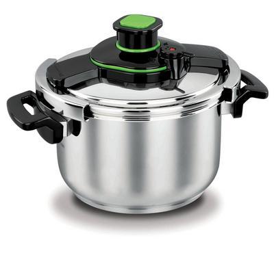Korkmaz TESSA, 7.0L Pressure Cooker Stainless Body, Black/Stainless