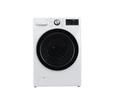LG Front Load Washer, 15kg, Steam, Wi-Fi, White