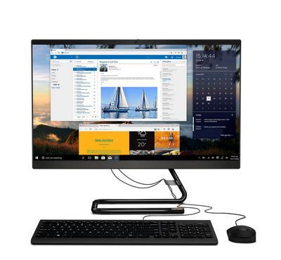 لينوفو، كمبيوتر الكل في واحد، 23.8 بوصة، كور أي3، 4 جيجا، 1 تيرا، أسود