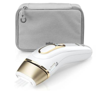 Braun Silk Expert Pro 5, Precision Head, Safe & Fast & Effective, White & Gold