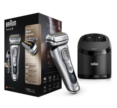 Braun Series 9 Shaver, 4 Shaving Elements + 1 Skin Guard, Silver