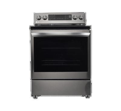 LG, Electric Range, 4 Black Ceramic Hobs 1 Warming Zone,Black Stainless Steel