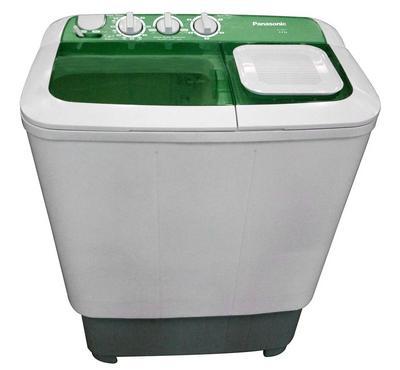 باناسونيك غسالة حوضين، 6  كيلو، هيكل بلاستيكي، ابيض / أخضر