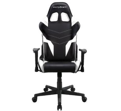 دي اكس ريسر ،كرسي ألعاب، أسود/ أبيض