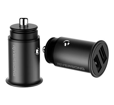 Riversong Super Mini Car Charger, Silver.