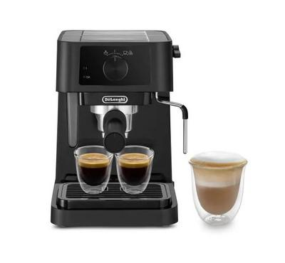 BK--Delonghi Coffee Machine, 1 Ltr Capacity, 15 Bar Steam Pressure, Black