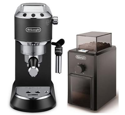 Delonghi Coffee Machine, 1.1 Ltr Capacity, 15 Bar Steam Pressure, Black