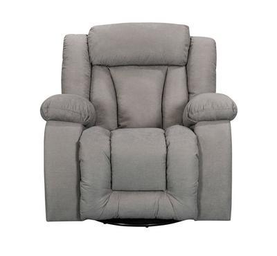 هوميز، كرسي إسترخاء مع خاصيتي الدوران و الإهتزاز، لون رمادي فاتح، قماش