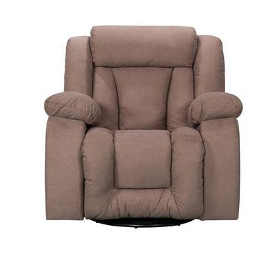هوميز، كرسي إسترخاء مع خاصيتي الدوران و الإهتزاز ،لون بني ، قماش