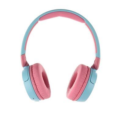 JBL Kids Wireless On-Ear Headphones, Reduced Volume for Safe Listening, Blue.
