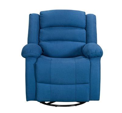 هوميز، كرسي إسترخاء يدوي مع خاصية الدوران، لون أزرق، قماش