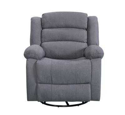 هوميز، كرسي إسترخاء يدوي مع خاصية الدوران، لون رمادي، قماش
